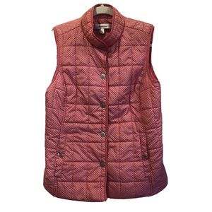 Croft & Barrow Quilted Pink Puffer Vest Sz Small